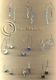"handmade sterling silver ear wires, with handmade sterling and gemstone ""dangles"""